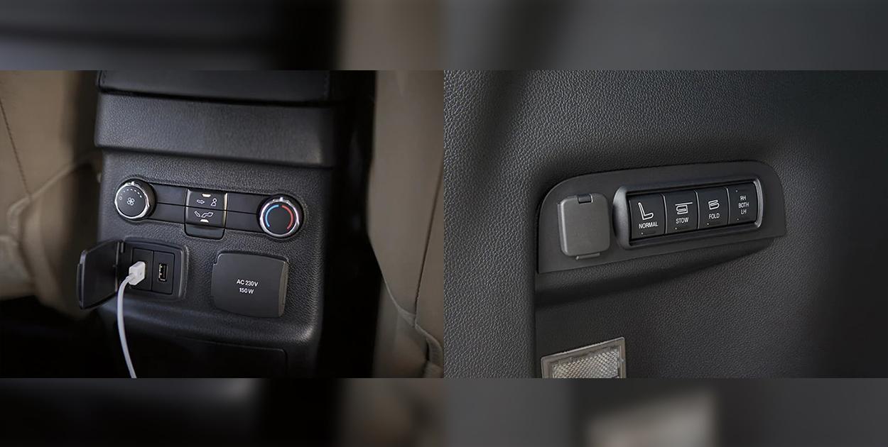 Sạc điện thoại và máy tính bảng trên xe