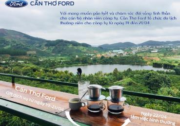 Cần Thơ Ford thông báo lịch nghĩ du lịch 2019